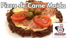 Receita de Pizza de Carne Moída com Lombinho - Tv Churrasco