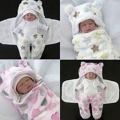 First Steps ★ Einschlagdecke ★ Baby Decke Schlafsack Puck-Tuch 0-4 Monate