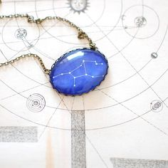 Virgo Zodiac Constellation Necklace. This necklaces makes a great gift for yourself or a perfect personalised gift for your loved one.