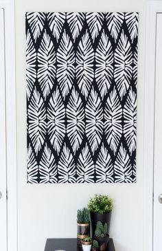 Canvas Art Using Fabric
