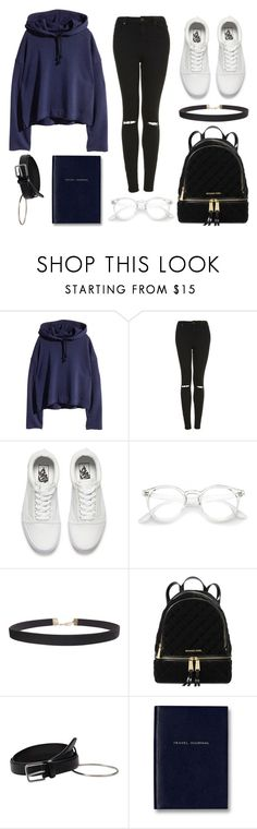 """""""Ribbon In the Sky"""" by yoitsmeg87 ❤ liked on Polyvore featuring Topshop, Vans, Humble Chic, Michael Kors, MANGO and Smythson"""