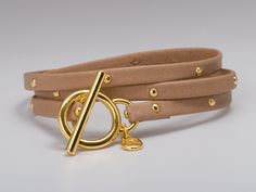 Love this! Graham Leather Studded Wrap in Gold