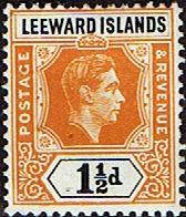 Leeward Islands 1938 SG 102 King George VI Fine Mint SG 102 Scott 122 Other Leeward Stamps HERE