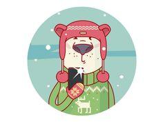 Polar Bear Selfie by Katya Prokofyeva