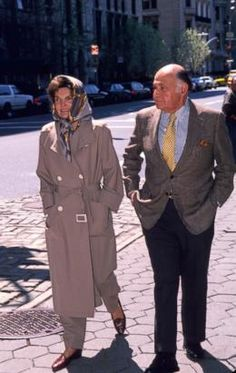 Jacqueline Kennedy Onassis and businessman Maurice Tempelsman walk through Central Park, April 4, 1994, in New York. (Steve Allen/Liaison/Getty Images)