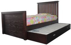ASBOTES - LONDON BED  This Solid Wood Bed includes the pull out and bottom underbed The underbed is on wooden wheels to smoothly slide out. www.asbotes.com 021 591 0737