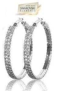 b05de5fdb Amazon.com : Hoop Earrings in Swarovski Crystal, Gift-Boxed : Everything  Else