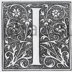 INSTANT DOWNLOAD French Letter I by BackAlleysBackRoads on Etsy, $2.50