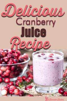 With a dose of fresh cranberries and a banana, this is a great smoothie for helping women prevent and treat urinary tract infections. Best Smoothie Recipes, Good Smoothies, Blender Recipes, Oatmeal Smoothies, Cranberry Juice Benefits, Cranberry Juice Cocktail, Shawarma, Juicing With A Blender, Juice Blender