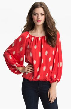 Vince Camuto 'Water Drops' Peasant Blouse
