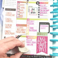 moving week w/ the 'Productivity' sticker value pack & erasing Happy Planner® stencil lines by mambi Design Team member Liz Nielson | me & my BIG ideas