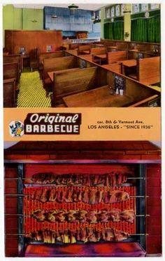 Postcard of Original Barbecue in Los Angeles, California | eBay