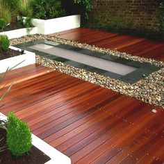 Slate Pond, Balau Decking, Landscape, Wooden, Design, Quality, Timber