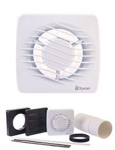 """Bathroom Extractor Fan bathroom #extractor fan with timer 150mm / 6"""" #silver kitchen"""