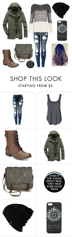 """Gallagher girl #1"" by yourneighborchu ❤ liked on Polyvore featuring American Rag Cie, Patagonia and Hot Topic"
