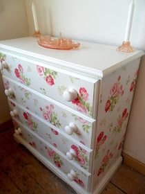 Ifyou remember my post here I was eagerly awaiting getting on with this makeover. It was on an already quite nice chest of drawers that w...