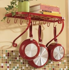 But not red, although this makes me almost wish I had red accents in my kitchen.