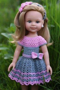 Crochet pattern for Berenguer 5 inch baby doll - dress, ber
