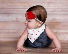 Girls Bandana Bib Toddler Girl Organic Bib Baby by MondoRotondo