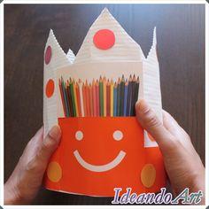 Corona de cumpleaños DIY reutilizando materiales by IdeandoArt