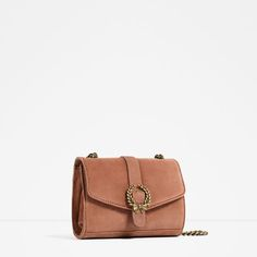Image 3 of LEATHER CROSSBODY BAG WITH BUCKLE from Zara