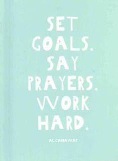 Set Goals - Say Prayers - Work Hard (Notebook / blank book) - 18003702 - Overstock.com Shopping - Great Deals on General