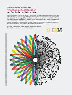 IBM ad from Ogilvy & Mather, illustration via French studio Helmo.