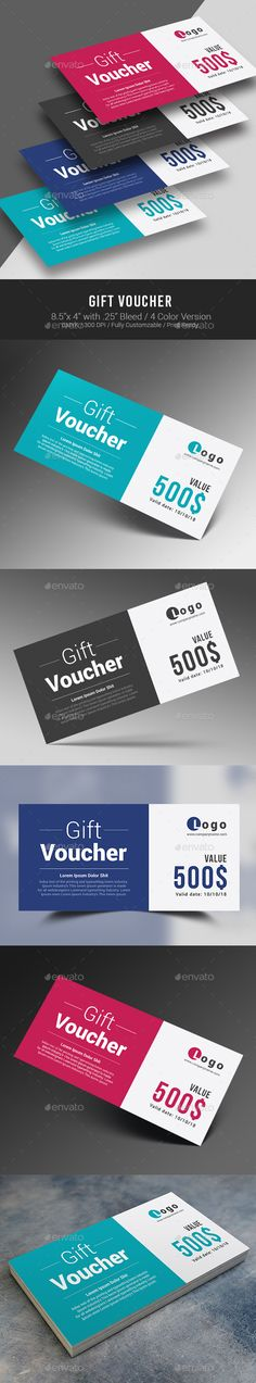 Gift Voucher Mockup Mockup, Gift voucher design and Business cards - business coupon template