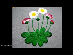Cute Hand Embroidery designs for cushion cover,sofa cover,table cloth,Wall - Free Online Videos Best Movies TV shows - Faceclips Hand Embroidery Videos, Hand Embroidery Flowers, Cute Embroidery, Hand Embroidery Stitches, Modern Embroidery, Embroidery For Beginners, Hand Embroidery Designs, Embroidery Techniques, Embroidery Patterns