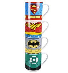 Justice League Of America Personajes Apilar Tazas