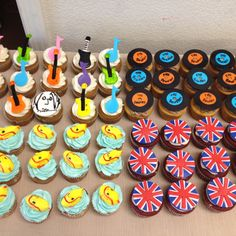 The Beatles themed cupcakes