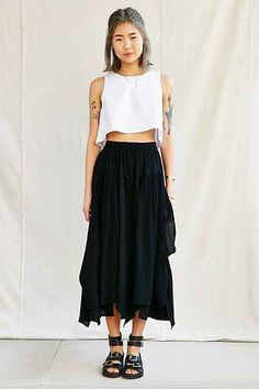 Urban Renewal Remade Gathered Maxi Skirt - Urban Outfitters
