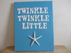 Beach House Nursery Art - Starfish Canvas - Twinkle Twinkle Little Star