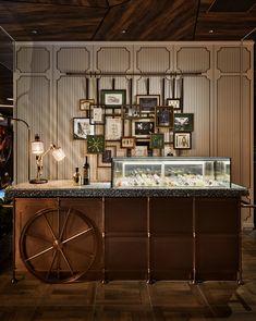 Commercial Interior Design, Commercial Interiors, Cafe Restaurant, Restaurant Design, Open Kitchen Restaurant, Cafe Design, Store Design, Design Design, Plywood Furniture