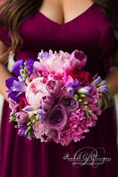 Vivid color wedding bouquet | Rachel A. Clingen Wedding & Event Design | photo credit @Rowell Photography