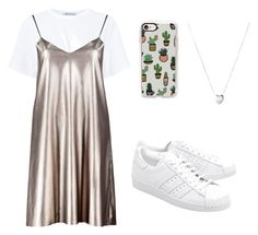 """""""Casual 👟"""" by khanh-truong on Polyvore featuring T By Alexander Wang, Boohoo, adidas Originals, Casetify and Links of London"""