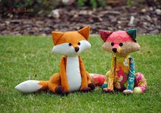 Patchwork Fox Softie PDF Sewing Pattern.  Make your very own Francie the Fox with this instantly downloadable, easy to follow PDF sewing pattern. With her adorable expression and colourful patchwork body, she is sure to be loved and cherished by all members of the family.  I used fabrics from the Rhapsodia collection by Pat Bravo for Art Gallery to make this patchwork fox but, of course, you can choose any fabrics you like to make your very own unique version of Francie. If youre not a fan…