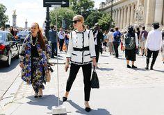 Danielle Steel in Prada and Victoria Traina in Chanel