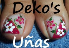 Lindas uñitas Mani Pedi, Manicure And Pedicure, Toe Nail Art, Acrylic Nails, Simple Toe Nails, Cute Toes, Incense Holder, Toe Nail Designs, Galaxy Wallpaper