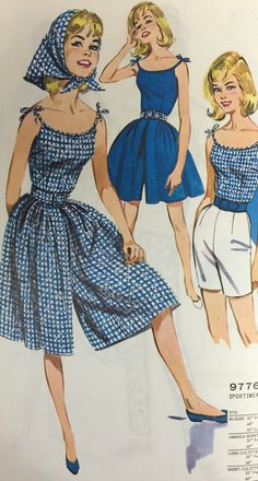 Decades of culotte sewing patterns. On the McCall Pattern Company blog.