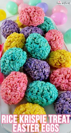 Rice Krispie Treat Easter Eggs - an Easter dessert that is fun and easy to make and super delicious. Everyone loves Rice Krispie Treats and your famil Easy Easter Desserts, Easter Snacks, Easter Treats, Easter Recipes, Easter Food, Easter Dinner, Homemade Rice Krispies Treats, Rice Crispy Treats, Krispie Treats