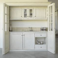 Very Small Kitchen Design, Casa Milano, Small Kitchenette, Hidden Kitchen, Tiny House Trailer, Sr1, Compact Kitchen, Tiny Apartments, Space Saving Furniture