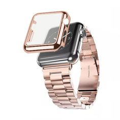 iPM Stainless Steel Watch Band With Plated Slim Case for Apple Watch - 18734843 - Overstock.com Shopping - The Best Prices on Smart Watch Accessories