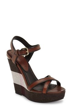 Burberry 'Whelan' Wedge Sandal (Women) available at #Nordstrom