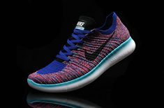 new arrival a59a3 88cda Mens Original Nike Free RN Flyknit MultiColor Royal Blue Turquoise Running  Shoes Nike, Nike Free