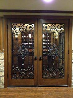An ETO door that looks flawless in this customers home Double Door Design, Main Door Design, Front Door Design, Iron Front Door, House Front Door, Exterior Entry Doors, Entrance Doors, Swinging Doors Kitchen, Eto Doors