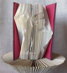 Items similar to Book folding pattern and FREE Tutorial - Flamenco Dancers with fan - folded book art, origami, gift on Etsy Recycled Books, Flamenco Dancers, Book Folding Patterns, Folded Book Art, Book Sculpture, Love Gifts, Bookshelves, Origami, Recycling