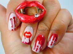 Sassy Paints: Fang-tastic!!! #nailart #polish #trueblood