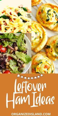 Leftover Ham Recipes, Leftovers Recipes, Best Dinner Recipes, Lunch Recipes, Delicious Recipes, Breakfast Lunch Dinner, Dessert For Dinner, Healthy Sandwiches, Pork Dishes