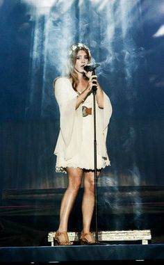 Lana Del Rey live in Warsaw, Poland, performing at the Warsaw Orange Festival, June 3rd, 2016